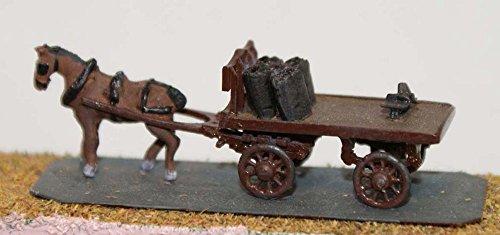 Langley Models Coal cart horse drawn N Scale UNPAINTED Metal Model Kit E22