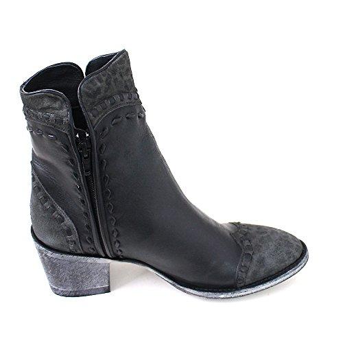 Mexicana Women's Cowboy Boots Schwarz (black rancheiro carbone leopard) 6XGUPS