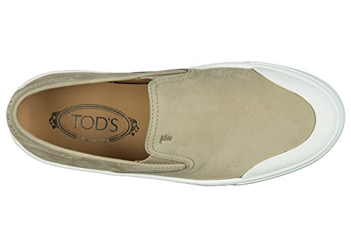 Tods The Lord Wild Leader Slip On Slippers Pantofola Cassetta Gomma Grau