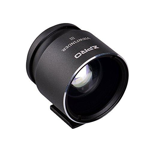 Optical Viewfinder (XPRO Optical Viewfinder 28/35/45 Black Camera Eyepiece for Canon Nikon Pentax Sony Olympus Fujifim Samsung Sigma Minoltaz DSLR Camera)