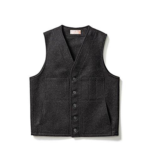 Classic Wool Vest (Filson  Men's Mackinaw Wool Vest Charcoal Outerwear)