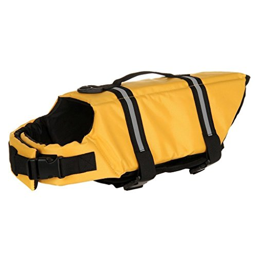 - BARGAIN HOUSE Pet Swimwear Pet Swimsuit Pet Safty Jacket Pet Life Jackets Pet Swimming Vest fit for dogs and cats M Size yellow