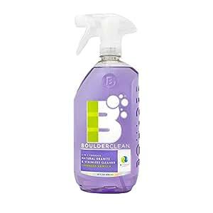 Boulder Clean Natural Granite & Stainless Steel Cleaner, Lavender Vanilla, 28 oz (Pack of 4)