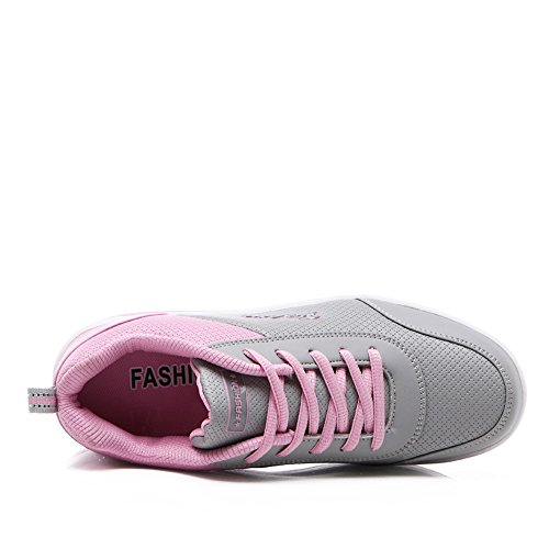 Platform GD M Sneakers EnllerviiD Women Lace Walking Pink B Shoes B959huifen37 US Comfort Up 6 Running Fitness xTTZRXw
