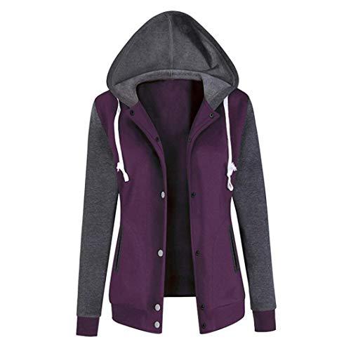 Trendinao Fashion Womens Long Sleeve Hoodie Sweatshirt Print Causal Tops Blouse PP/L (Purple,Large) (Baby Thermal Long Sleeve Henley Army Green)