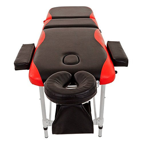 Merax WF015763JAA Aluminium 3 Section Portable Folding Massage Table Facial SPA Tattoo Bed by Merax (Image #5)