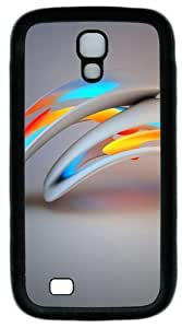 3D Abstract Design Custom Designer Samsung Galaxy S4 Case and Cover - TPU - Black