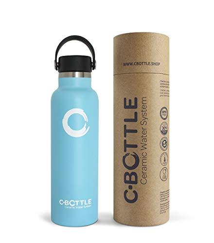 🥇 N C-Bottle Botella Agua Acero Inoxidable 600ml con Recubrimiento Interior Cerámico