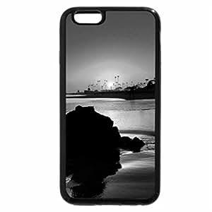 iPhone 6S Case, iPhone 6 Case (Black & White) - BEAUTIFUL SUNSET ON FAR SHORE