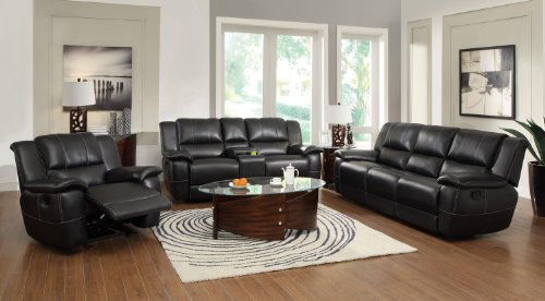 Coaster Home Furnishings Transitional Motion Sofa, Black