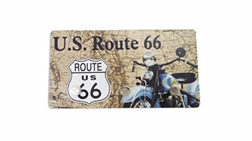 Porta Chaves de Metal US Route 66 - 3 Pinos - 15x8 cm
