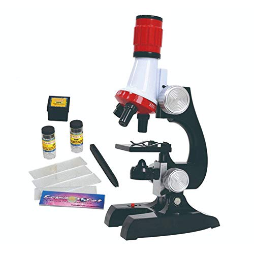 Kids Microscope, MMUSC Microscope for Student Beginner with LED 100X, 400x, and 1200x Magnification, Kids Science Toys for Boys Girls Students, Includes Accessory Set