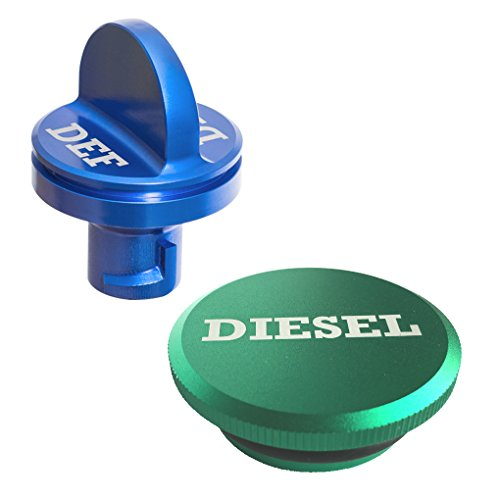 (Ronin Factory Combo Pack - Magnetic Diesel Fuel Cap & DEF Cap for Dodge RAM Trucks (2013-2018), The Original Lightweight Design)