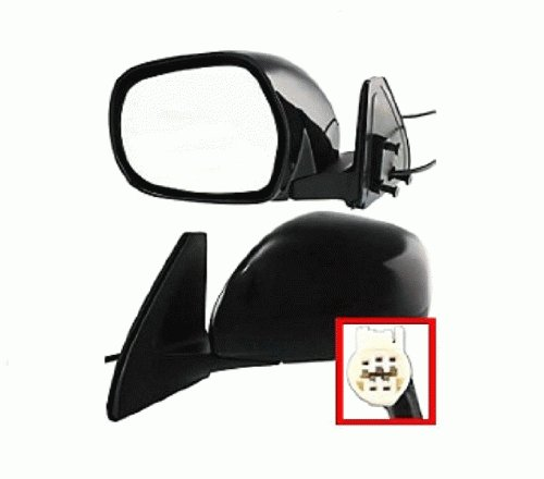 Discount Starter and Alternator 4082PL Replacement Mirror Fits Toyota 4Runner Driver SidePower Heated Manual Folding