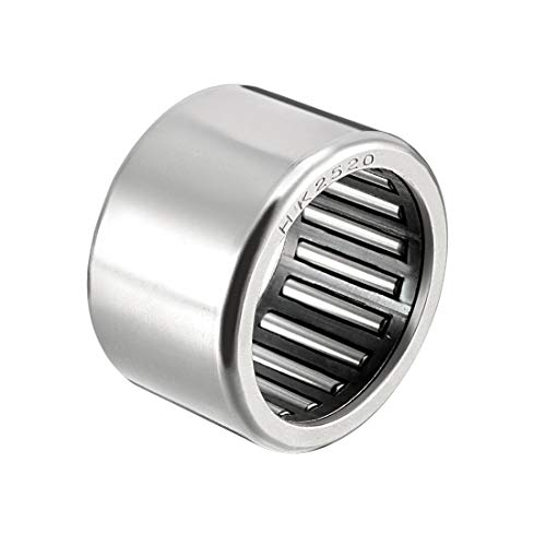 uxcell HK2520 Drawn Cup Needle Roller Bearings, Open End, 25mm Bore Dia, 32mm OD, 20mm Width (Pack of 1) ()