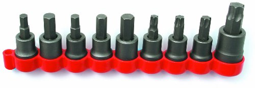 CTA Tools 1485 Disc Brake Caliper Bolt Socket Set, 9-Piece (Brake Tool Torx Disc)