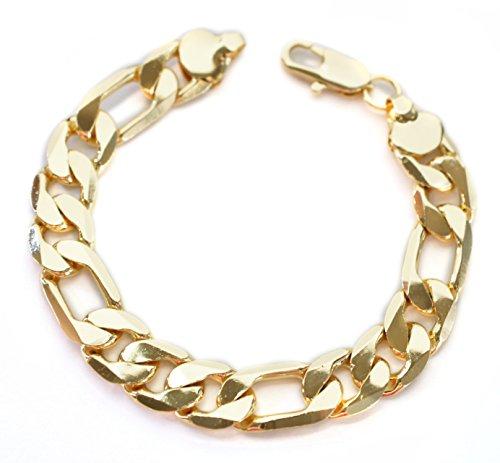 14kt Yellow Gold Mens Bracelet (8 3/8