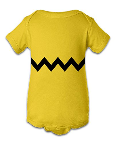 Charlie Brown Short - Tee Tee Monster Baby Boys'Charlie Brown Inspired Onesie 6 Month Yellow