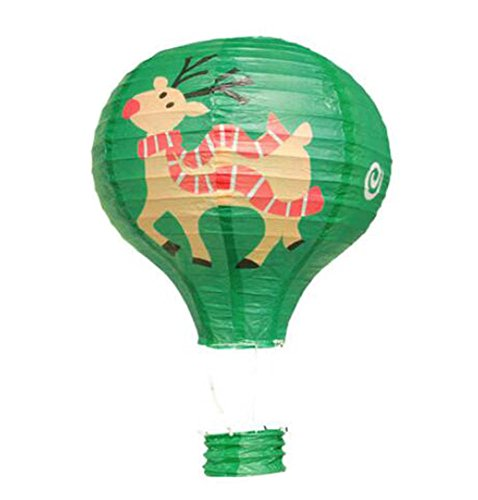 Birthday Party/Christmas/Easter/Mall Decoration Hanging Paper Lantern Hot Air Balloon 30cm(Fawn)