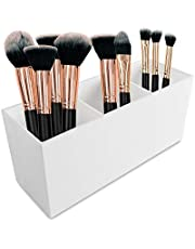 Cosmetic Makeup Organizer for Lipstick, Eyeliner Brushes, Lip Pencil Display Rack 3 Slot Vanity Top Holder