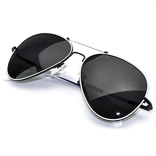 Aviator Vintage Womens Polarized Sunglasses Retro Eyewear (White) - 7