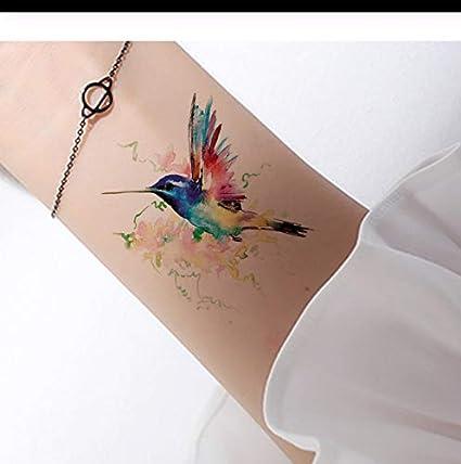 LFVGUIOP 3D Acuarela Tatuaje Temporal Aves Mujeres Manos Brazo ...
