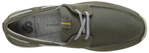 Clarks Mens Marus Edge Oxford, Olive, 11.5 M US