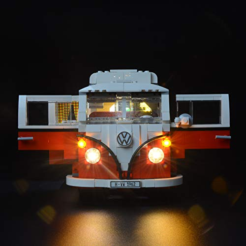 Briksmax Volkswagen T1 Camper Van Led Lighting Kit- Compatible with Lego 10220 Building Blocks Model- Not Include the Lego Set