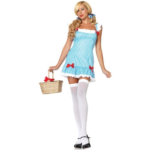 [Leg Avenue Women's Darling Dorothy Costume, Blue/White, Small/Medium] (Gingham Womens Costumes)