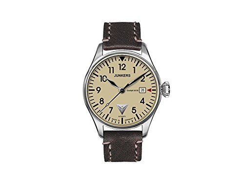 Junkers Cockpit JU52 Automatic Watch, Beige, 40 mm, Leather strap, Day, 6150-5