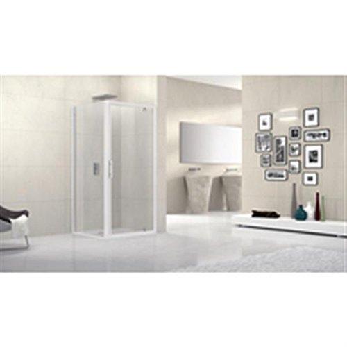 Mampara de ducha lunes F 96 cm extensible hasta 102 cm, fijo ...