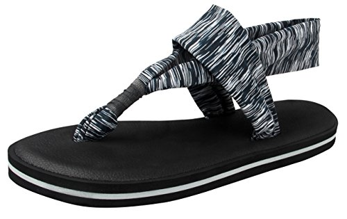 T&Mates Womens Fashion Lightweight Yoga Mat Thong Slingback Flat Sandals Flip Flops (Gray, 9 B(M)US) (Halloween Safety Tips From Police)