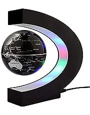 Créatif Globe Terrestre Lumineux Flottant Magnétique Levitation Globe Lamp avec Lumières LED et Base en forme C pour Décorations Maison et le Bureau