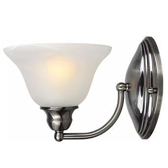 Portfolio Sconce Light Fixture Brushed Black Chrome