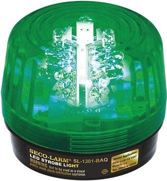 Seco-Larm Enforcer LED Strobe Light, Green Lens (SL-1301-BAQ/G)