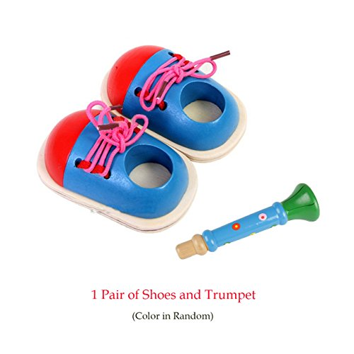 Toy Learn How To Tie Shoelaces Shoes Lacing Hand  Coordination DevelopmentET JG