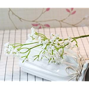 80 Mini Heads 1PC DIY Artificial Baby's Breath Flower Gypsophila Fake Silicone Plant for Wedding Home Party Decorations 8 Colors 21