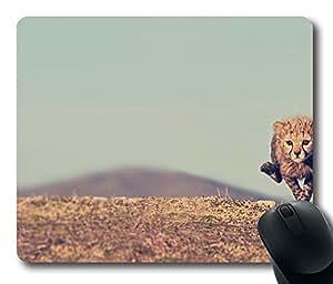 Young Cheetah Mouse Pad Desktop Laptop Mousepads Comfortable Office Mouse Pad Mat Cute Gaming Mouse Pad