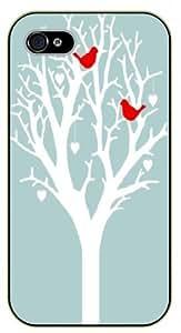 iphone 6 4.7 Love birds, love tree - black plastic case / Heart, hearts