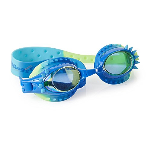 Swimming Goggles For Boys - Aquaman Kids Swim Goggles By Bling2o (Guppie Green)