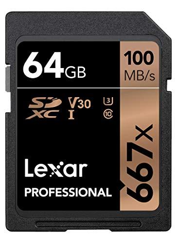 Lexar Professional 667x 64GB SDXC UHS-I/U3 Card (LSD64GBNA667)