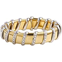 Roberto Coin Nabucco 18K Yellow and White Gold Diamond Bangle Bracelet