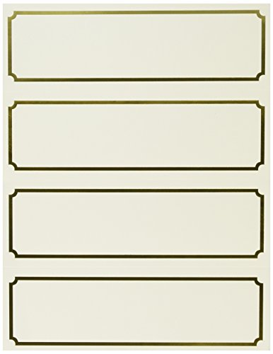 St. James Overtures Table Tent Printable Place Cards on for Business Events, Parties and Weddings Pack of 50, Ivory, Gold Foil, Classic