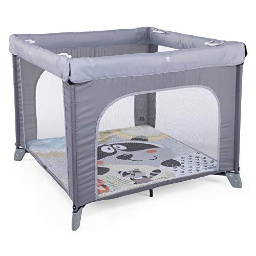 Chicco Chicco Open Box 2019- Parque de juegos infantil con alfombra extraíble, 0-4 años, color gris (Honey Bear)