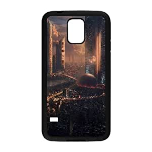 Bloomingbluerose the Future City Apocalyptic Case for Samsung Galaxy S5 Unique, Luxury Case for Samsung Galaxy S5 for Girls Protective with Black