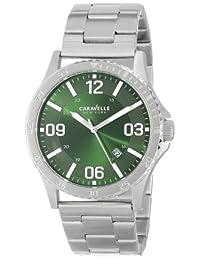 Bulova Caravelle New York  Men's 43B129 Silver/Green Stainless Steel Watch