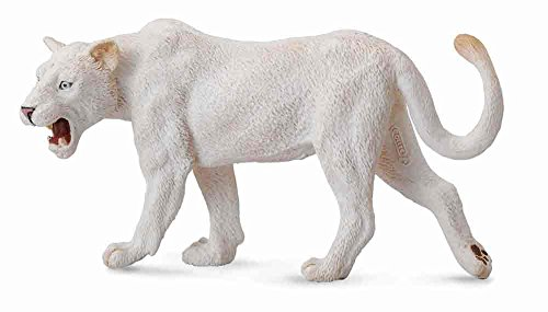 CollectA Wildlife White Lioness Toy Figure - Authentic Hand Painted Model