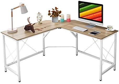 Mr IRONSTONE L-Shaped Desk 59 Computer Corner Desk, Home Gaming Desk, Office Writing Workstation, Space-Saving, Easy to Assemble