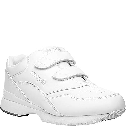 Propet Women's Tour Walker Strap Sneaker,White,8.5 M (US Women's 8.5 B)