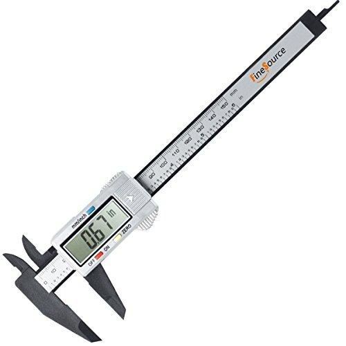 FineSource Electronic Digital Caliper Inch/Metric Conversion 0-6 Inch/150 mm Carbon Fiber Gauge Micrometer Extra...